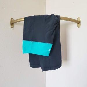 lululemon athletica Pants - Lululemon Groove Crop Black / Teal Ash Space Dye 8